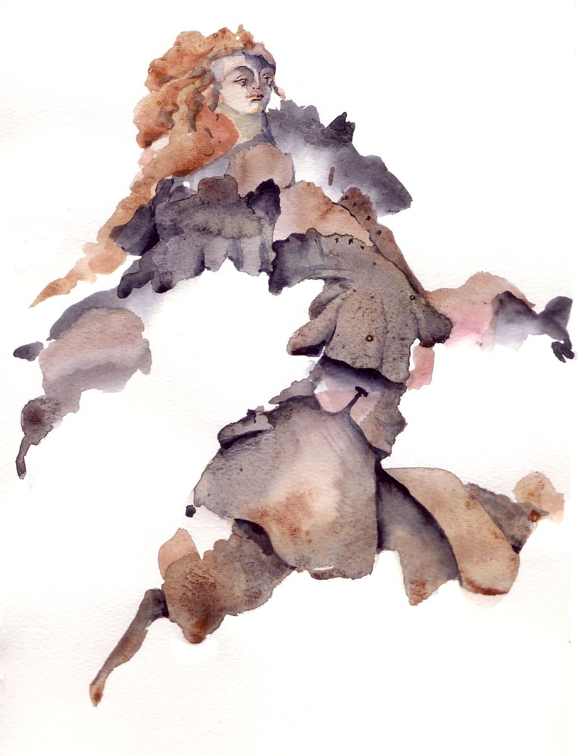 Danseuse - aquarelle*